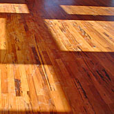 Installation cherry wood flooring